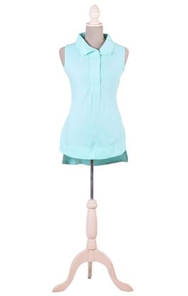 Picture of Verve Collection: Muslin Broad Collar Sleeveless Shirt