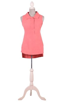 Picture of Serendipity Collection: Muslin Broad Collar Sleeveless Shirt