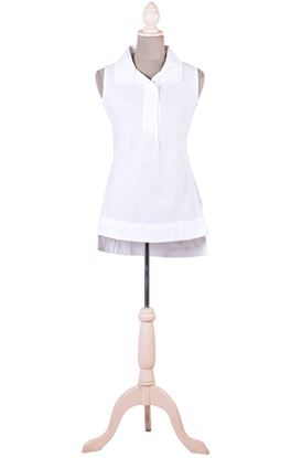 Picture of Infinity Collection: Muslin Broad Collar Sleeveless Shirt