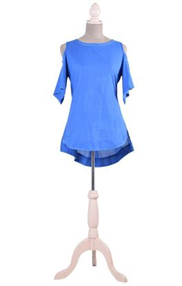 Picture of Verve Collection: Aari Embroidery Stylised Cold Shoulder Top