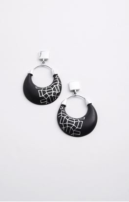 Picture of Casablanca Collection: Bidri Hoop Danglers With Studs