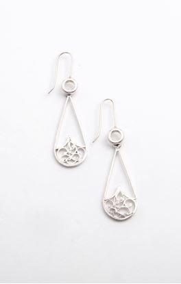 Picture of Sava Collection: Filigree Floral Drop Shape Dangler
