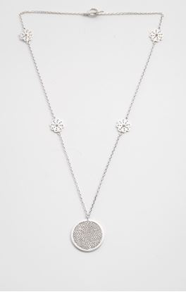 Picture of Sava Collection: Filigree Floral Neck Chain and Pendant