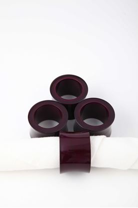 Picture of Splendour Collection: Channapatna Violet Curved Napkin Ring
