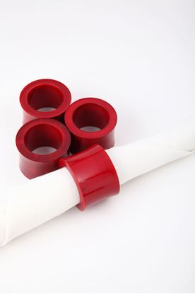 Picture of Splendour Collection: Channapatna Red Curved Napkin Ring
