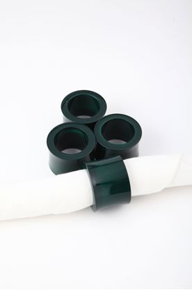 Picture of Splendour Collection: Channapatna Green Curved Napkin Ring