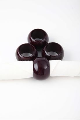 Picture of Splendour Collection: Channapatna Violet Round Napkin Ring