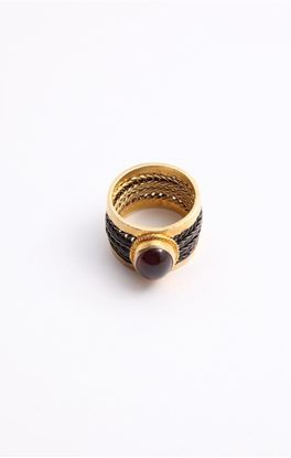 Picture of Venus Collection: Woven Band Ring With Ruby Light Tourmaline