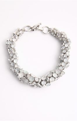 Picture of Venus Collection: Aquamarine Silver Chain Bracelet