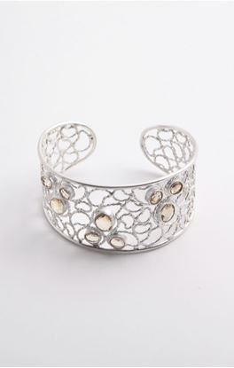 Picture of Aine Collection: Silver Cuff With Citrine Stone