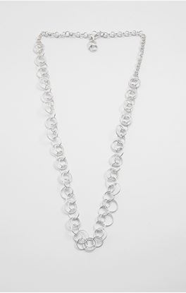 Picture of Aine Collection: Handcrafted Silver Long Neck Chain