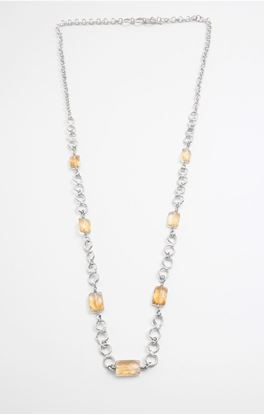 Picture of Aine Collection: Silver Neck Chain With Citrine Stone
