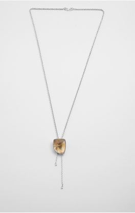 Picture of Aine Collection: Silver Citrine Stone Pendant and Chain