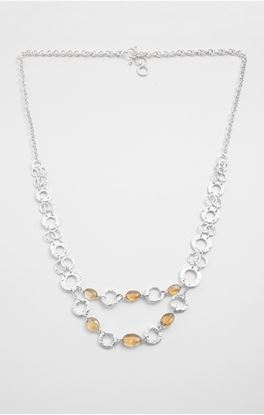 Picture of Aine Collection: Silver Necklace with Citrine Stone