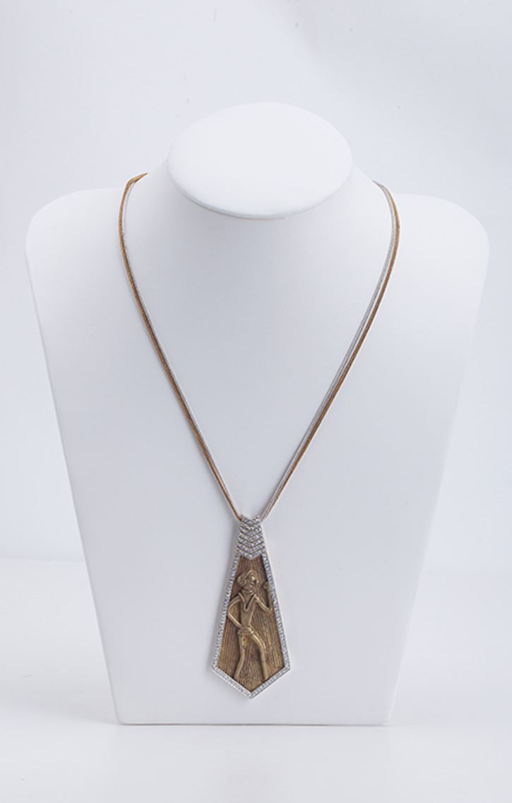 Caravan evolved indic craft mohenjodaro collection dhokra limited mohenjodaro collection dhokra limited edition tribal pendant with chain aloadofball Choice Image