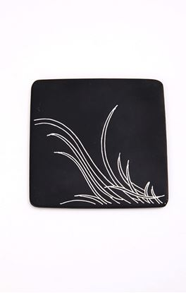 Picture of  Moonlight Collection: Bidri Square Coasters Set Of Two