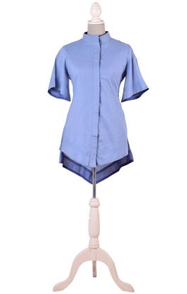 Picture of Infinity Collection: Aari Tonal Embroidery Flared Sleeve Shirt