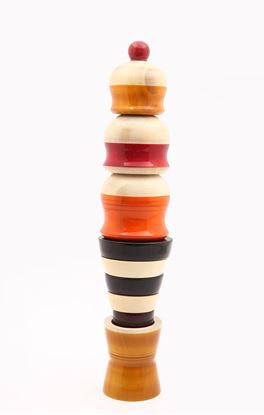Picture of Curious Collection: Channapatna Frosty Scoops Ice Cream Stacking Toy