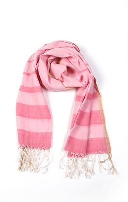 Picture of Serendipity Collection: Muslin Stole With Tonal Stripes
