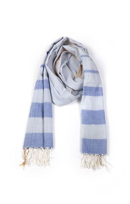 Picture of Infinity Collection: Muslin Stole With Tonal Stripes