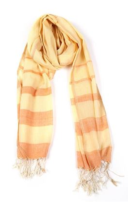 Picture of Verve Collection: Muslin Stole With Tonal Stripes