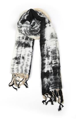 Picture of Verve Collection: Tie and Dye Linen Stole