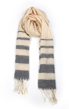 Picture of Elemental Collection: Muslin Stole With Tonal Stripes
