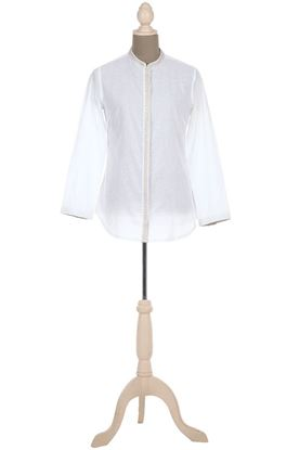Picture of Elemental Collection: Aari Embroidery Mandarin Collar Shirt