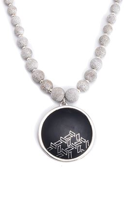 Picture of Casablanca Collection: Bidri Pendant with Necklace