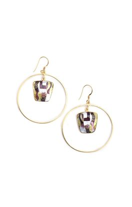Picture of Nouveau Collection: Meenakari Large Hoop Danglers
