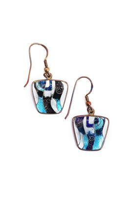 Picture of Nouveau Collection: Meenakari Blue Small Danglers