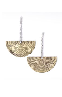 Picture of Mohenjodaro Collection: Dhokra Limited Edition Long Dangler Earrings
