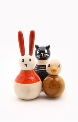 Picture of Munchkins Collection: Channapatna Heads Tails Etc Cat Rabbit Duck