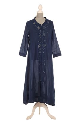 Picture of Gilded Grace Collection: Zardozi Embroidery Long Flared Kurta