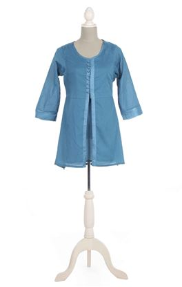 Picture of Gilded Grace Collection: ZARDOZI WORK SHORT BUTTONED KURTA