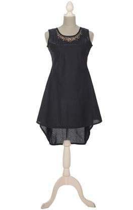 Picture of Gilded Grace Collection: Zardozi Embroidery Asymmetric Hem Tunic
