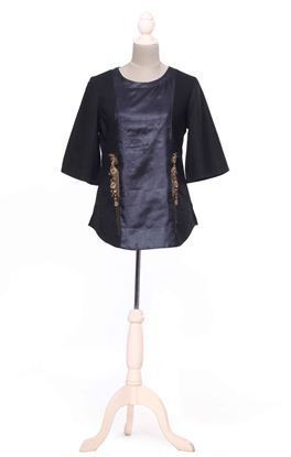 Picture of Gilded Grace Collection: Zardozi Embroidery Panelled Short Top