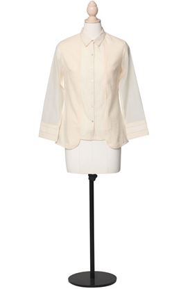 Picture of Prajnaa Collection: Muslin Panelled Shirt with Cotton Silk Sleeves