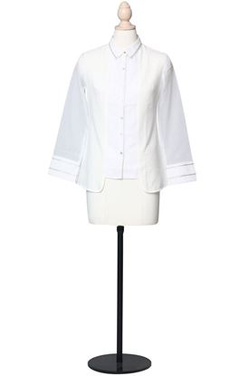 Picture of Prajnaa Collection: Muslin Panelled Shirt with Kota Sleeves