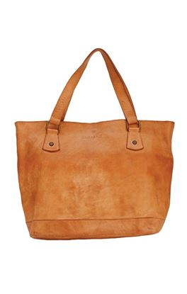 Picture of Mustang Collection: Vegetable Tanned Leather Bag with Denim Pouch