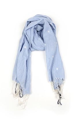 Picture of Infinity Collection: Jamdani Muslin Stole with Overall Square Motif