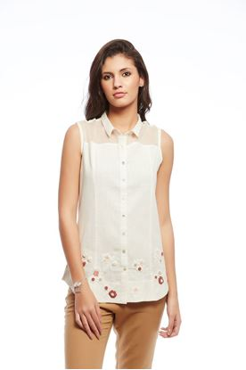 Picture of Whiff Of Wildflowers Collection: Crochet Sleeveless Shirt