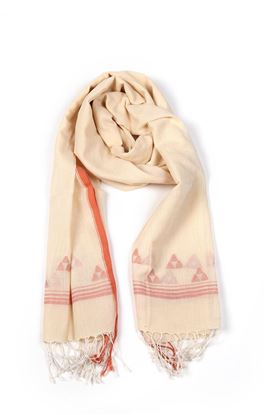 Picture of Serendipity Collection: Jamdani Muslin Stole with Geometric Motif