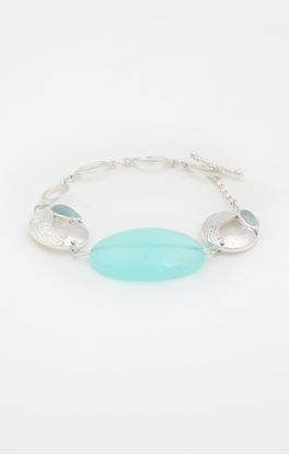 Picture of Lyn Collection: Chain Bracelet With Blue Onyx
