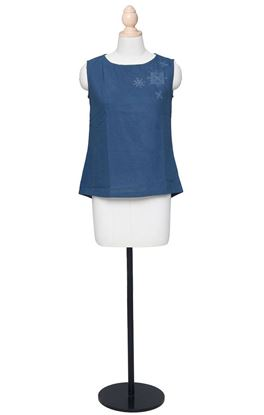 Picture of Prajnaa Collection: Muslin Sleeveless Embroidered Top