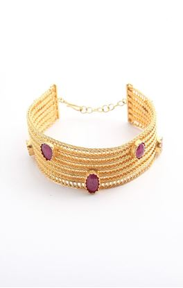 Picture of Venus Collection: Gold Plated Woven Silver Bracelet